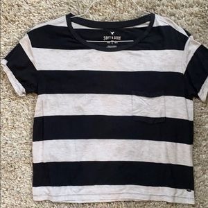 American Eagle Soft and Sexy Tee XS Black and Gray